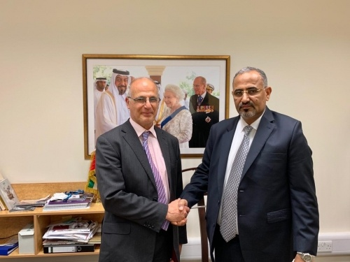 President Aidroos Al-Zubaidi meets the British Ambassador to Yemen