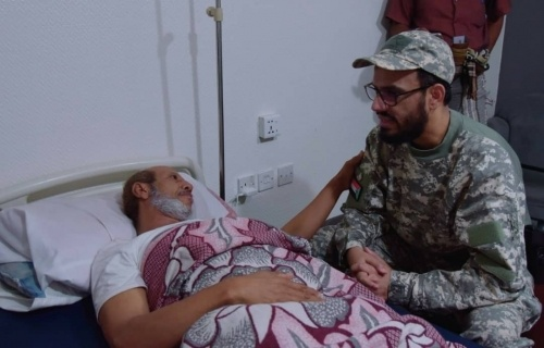 The Vice President checks on wounded of southern forces of Shabwa battles