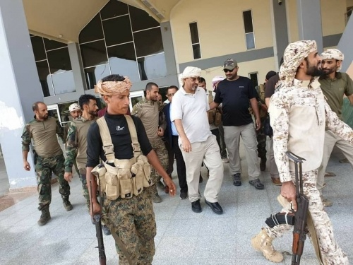 President Al-Zubaidi inspects Aden International Airport and security points in Aden the capital