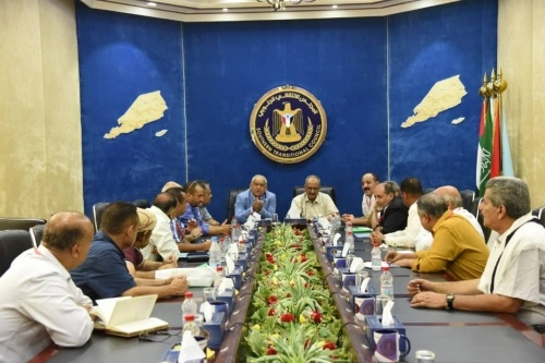 The Southern Transitional Council Presidency members meet UNOPS envoy