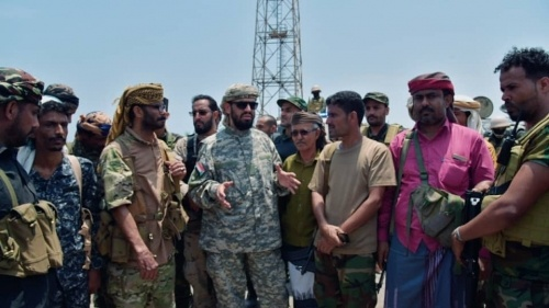 The Vice President of the Transitional Council inspects southern forces in Abyan