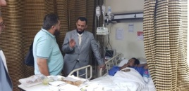 Vice President of the Transitional Council checks on southern forces wounded in Egyptian hospitals