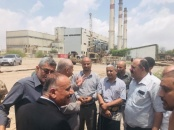 Transitional Council Officials inspect work progress at Al-Hiswa Electro-Thermal Power Plant