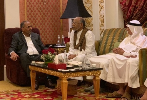 President Al-Zubaidi meets with Mr. Abdulrahman Al-Jifri