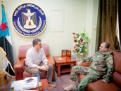 The Secretary General discusses with Director of Aden Security efforts to establish security and stability in Aden
