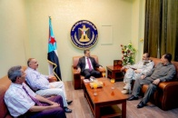 The Secretary General reviews activities of services and security sectors in Aden the capital