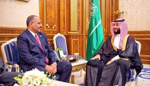 President Al-Zubaidi meets with Saudi Crown Prince Mohammed bin Salman