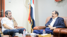 Chairman of the National Assembly meets the Director of the UN Envoy Office in Aden the capital