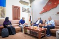 Chairman of National Assembly meets coordinator of international organizations in Aden the capital