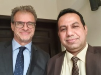 Representative of Transitional Council Foreign Affairs meets French Ambassador to Yemen
