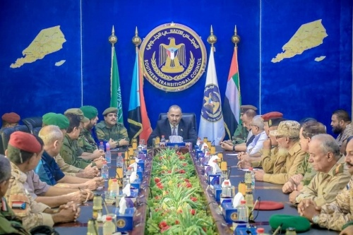 President Al-Zubaidi chairs a meeting of southern military and security leaderships