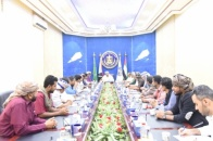 President Al-Zubaidi meets the Community Committee for releasing detainees of latest events in Aden