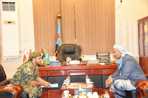 President Al-Zubaidi praises rule played by Fourth Brigade southern resistance on North Dhali fronts