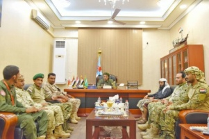 President Al-Zubaidi meets with leadership of the Support Forces