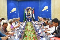 President Al-Zubaidi chairs joint meeting of Council's Presidency and Abyan Local Leadership Executive Board