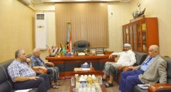 "President Al-Zubaidi discusses with editor-in-chief of ""Al-Ayyam"" newspaper the southern media"