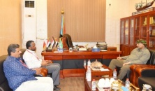 President Al-Zubaidi meets the MSF coordinator in Aden the capital
