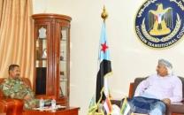 President Al-Zubaidi meets the Commander of 6th Thunderbolt Brigade