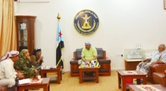President Al-Zubaidi praises the efforts of security in Abyan Governorate