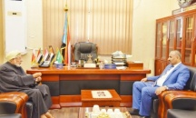 President Al-Zubaidi discusses with Sheikh Mustafa Al-Aidarous ways to restore leadership role of Aden