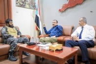 Chairman of the National Assembly meets Commander of Facilities Protection Brigade in Aden
