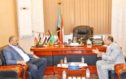 President Al-Zubaidi meets with coordinator of international organizations in Aden the capital
