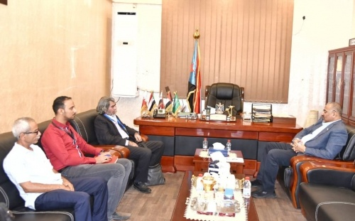 President Al-Zubaidi meets the adviser of the United Nations envoy to Yemen