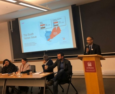 University of Ottawa organizes political seminar with Transitional Council Office in Canada