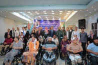 The Department of Martyrs and Injured launches distribution of 100 wheelchairs to the wounded