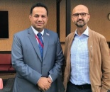 Representative of Transitional Council Foreign Affairs meets political adviser to British Ambassador to Yemen