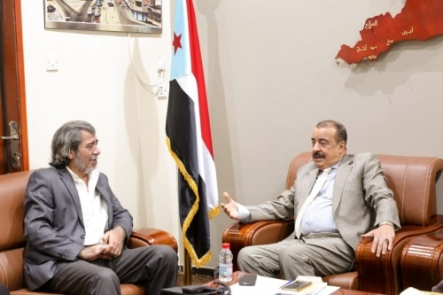 Major General Ben Brik meets office director of UN envoy to Yemen in Aden the capital