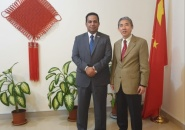 Al-Shabahi representative of Transitional Council Foreign Affairs meets Chinese ambassador to Yemen
