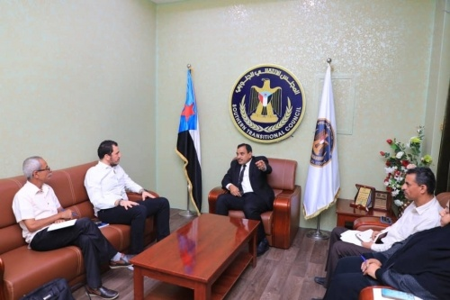 Al-Sokatri discusses political developments on local scene with political advisor to UN envoy Griffiths