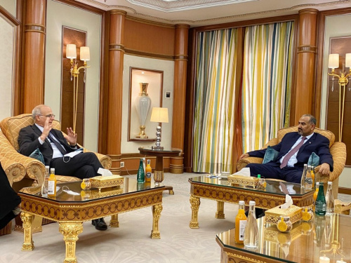 President Aidaroos Al-Zubaidi receives the Ambassador of the United Kingdom