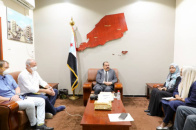 Major General Bin Brik discusses with UN and foreign officials health situation in south and ways to improve it