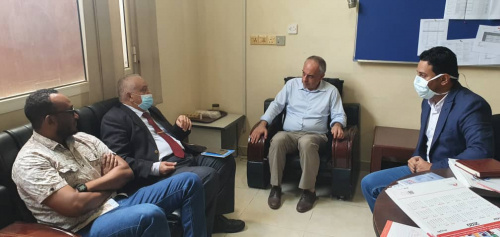 Al-Wali visits the headquarters of the international mission of MSF in the capital Aden