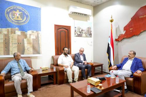 Major General Bin Brik meets head of MSF in the capital Aden