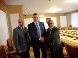 Al-Zamki conveys message from President Al-Zubaidi to the Russian Duma