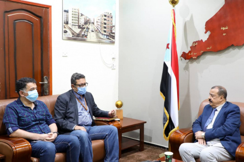 Major General Bin Brik receives Acting Director of Security and Safety at United Nations Office in Aden the capital