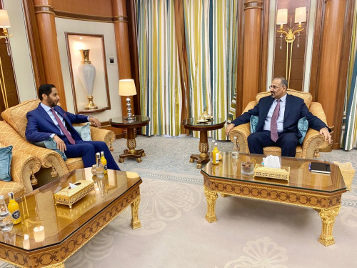 President Aidaroos Al-Zubaidi receives the Ambassador of the Republic of Djibouti