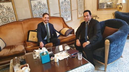 Representative of Transitional Council Foreign Affairs Al-Shabhi meets Chargé d'Affairs of Federal Republic of Germany