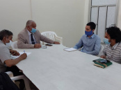 Al-Wali meets head of Doctors Without Borders Belgium mission in Aden the capital