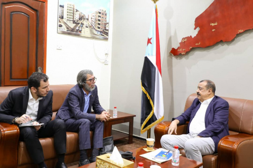 Major General bin Brik meets the director of the UN envoy's office in the capital Aden