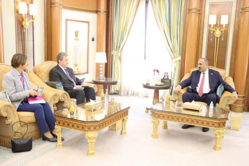 President Aidaroos Al-Zubaidi receives the Ambassador of the Kingdom of Norway