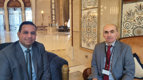 Al-Shabhi,the Representative of Transitional Council Foreign Affairs meets Deputy Ambassador of France
