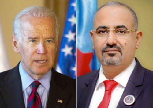 President Al-Zubaidi congratulates President Joe Biden on his election new President of United States of America