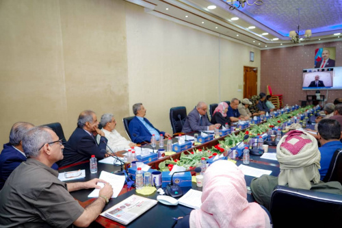 President Aidaroos Al-Zubaidi chairs the periodic meeting of the Presidency of the Transitional Council