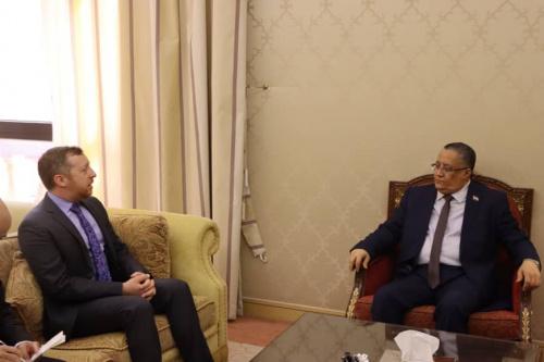 Al-Khobaji receives the Acting Deputy US Ambassador