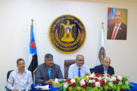 Al-Jaadi chairs joint meeting of General Secretariat departments and Transitional Council Executive of Aden the capital
