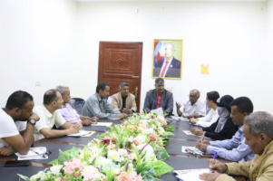 The Media Department holds its first meeting with media departments of Aden the capital